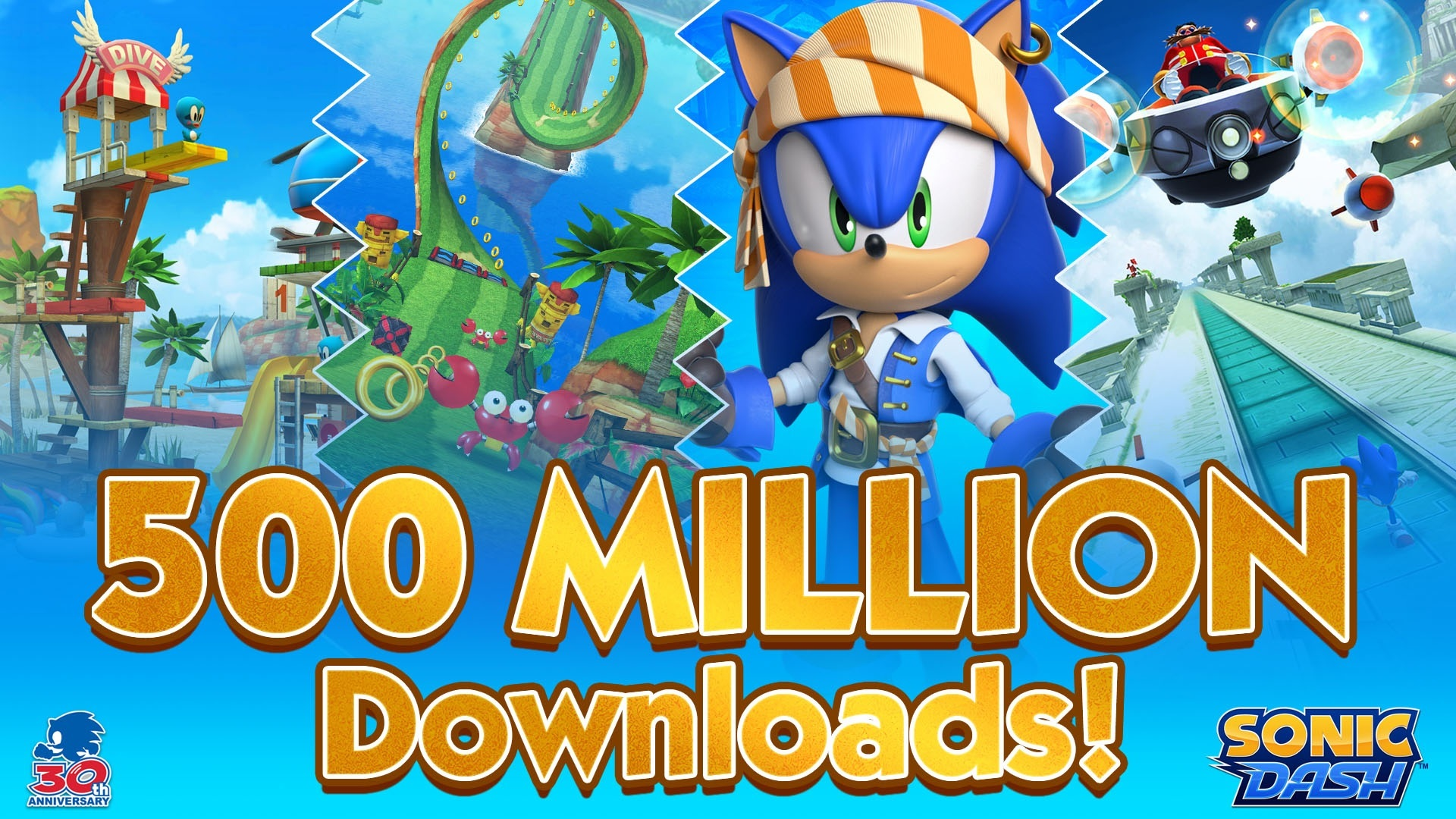 Sonic Dash surpasses 500 million downloads worldwide across iOS and Android - Final Weapon